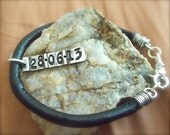Personalized Mens Jewelry Sterling Memory Date Stamps