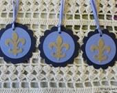 Fleur de Lis Gift Tags Set of Eight Marian Favor Tags