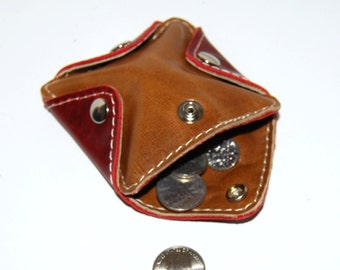 Leather Coin Purse, Change Purse, Ear Bud Holder