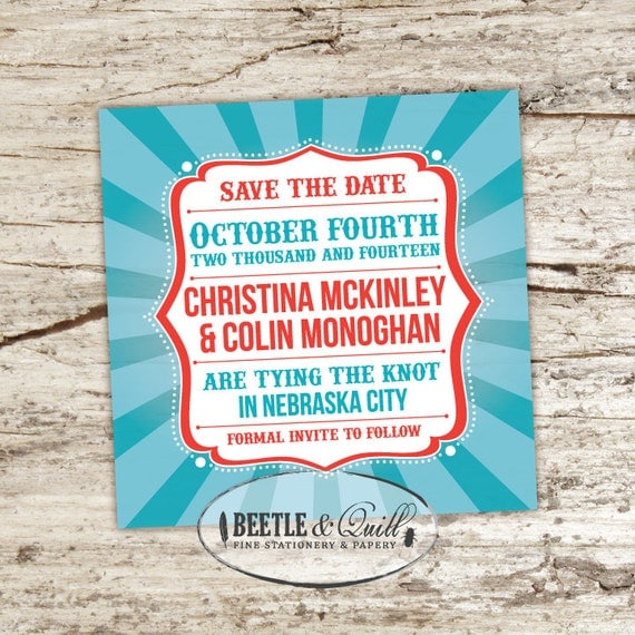 Life is a Carnival Printable Save the Date
