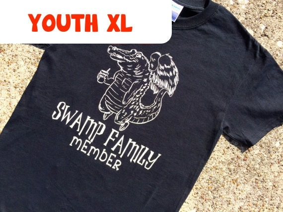 YOUTH XL gator BLACK t-shirt
