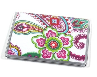 SALE Card Case Mini Wallet Punch of Paisley