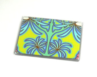 Card Case Mini Wallet Amy Butler Soul Blossoms Bliss Fuchsia Tree Chartreuse