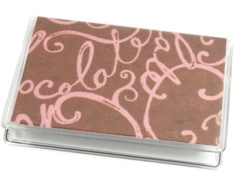 SALE Card Case Mini Wallet Chocolate