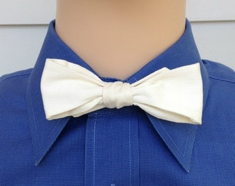 1920s Bowtie White With A Collar For Morning Coat