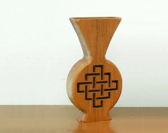 Wood Mini Vase Bud Vase Dried Flower Center Piece Latice design hand cut scroll sawn