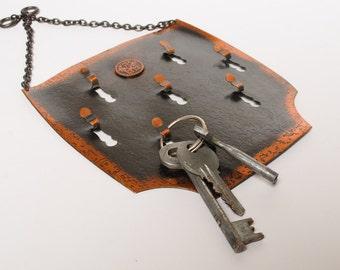 SALE 15% off Vintage copper wall hooks for key hanging.