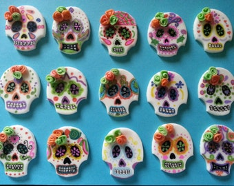 12 day of the dead cupcake toppers