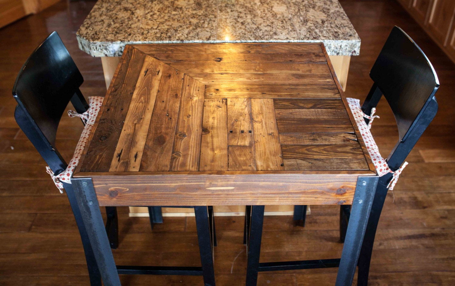 Pallet Wood Bistro Table By Woodandwiredesigns On Etsy
