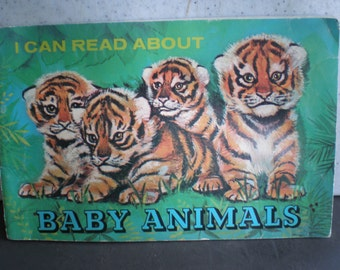 Vintage 1970's Illustrated Children's Book - I Can Read About - Baby Animals