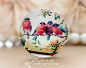 12mm 20mm 25mm 30mm  Handmade Photo Glass Cabochon -Image Glass Cabochon-(Birds)-(HPGC-2287)