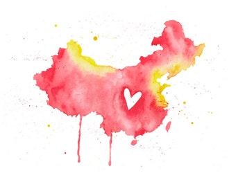 5x7 or 8.5x11 - China Love