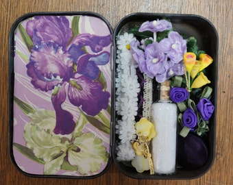 Altered Tin Inspiration Kit Lavender and Yellow