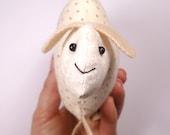 Mini Sheep Cushion - White