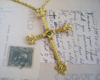 Brass Wire Wrapped Cross Free Shipping