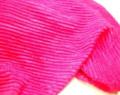 Hot Pink Fabric, 7/8 yard remnant, Sewing Material, Tailoring Supplies