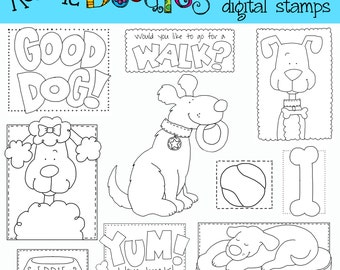 Ronnies Good Dog Stamps