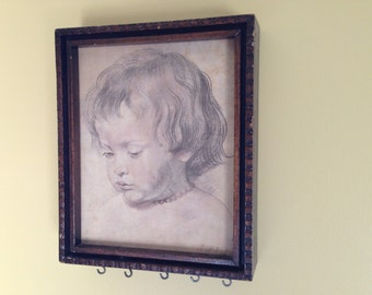 Vintage Framed Sepia Child Photo