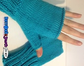 Custom Fingerless Gloves BLACK