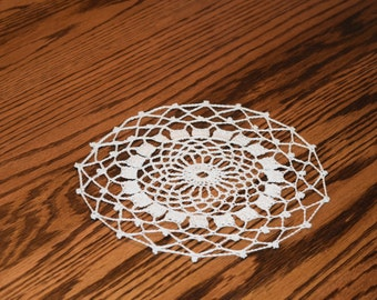 Ecru Cotton Doily - 8 inches in diameter