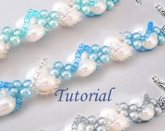 Beads Beading Tutorial - Beaded Seashells Spiral Bracelet