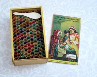 Vintage Rolled Fortune Teller Fortunes c.1975  /  Fortune Teller Fortune Cookie Fortunes   /   Unique Divination Tool
