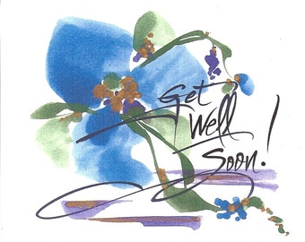 "5  ""Get Well Soon"" Notes"