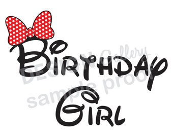 Birthday Girl - JPG image & SVG cut - DIY Printable Iron On Transfer Instant Download