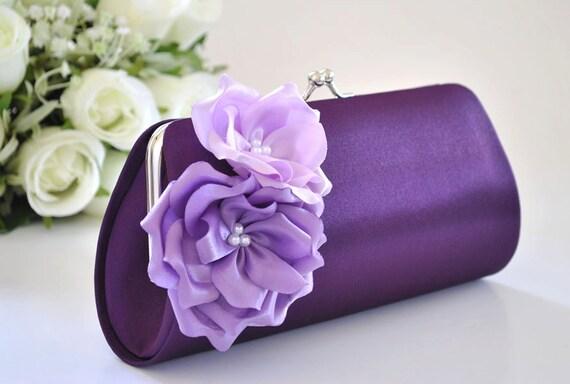 Shades of Purple / Bridal clutch / Bridesmaid clutch / Prom clutch