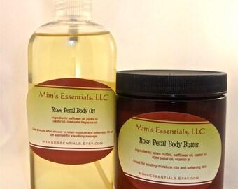 Rose Petal Body Oil, 4oz.