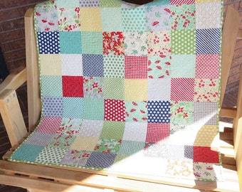 Homemade -April Showers Baby Quilt - Made With Hard To Find Fabrics!