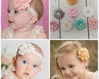 Baby Headbands, CHOOSE COLOR, Newborn Headband, Lace Baby Headband,Baby headbands, Baby girl headbands, Baby hair bows Bows,Hair Bows.