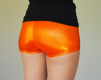 Shiny Orange Roller Derby Shorts - in stock