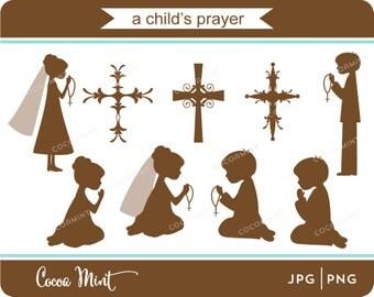 A Child's Prayer Clip Art