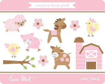 Country Farm Pink Clip Art
