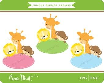 Jungle Animal Frames Clip Art