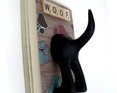 Dog Tail Leash Holder  - Just the PAWS - Personalize it with Optional Letter Tiles