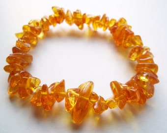 Honey  BALTIC  AMBER  BRACELET  7.5  inches.