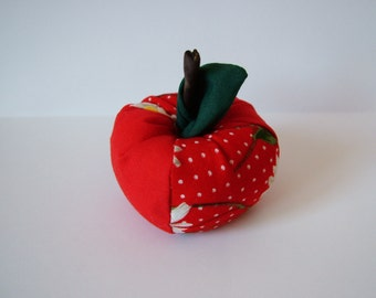 Small Apple pin cushion or home decoration.