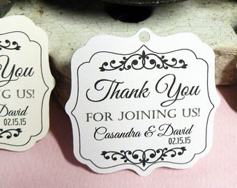 Wedding Favor Tag, Personalized Gift Tags or Shower Favor Tags, Custom Labels, Custom Gift Card