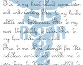 Registered Nurse's Prayer counted  Cross Stitch Pattern Nurse Instant Digital Download