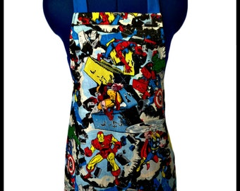 Marvel Superheroes Aprons Kids Sizes 4-6-8-Young Adult