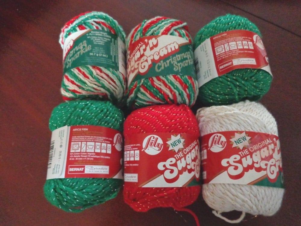 Holiday yarn sugar n cream skeins christmas sparkle cotton