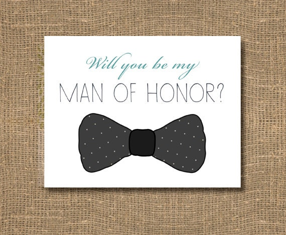 will you be my man of honor best man by rockcandiedesigns. Black Bedroom Furniture Sets. Home Design Ideas