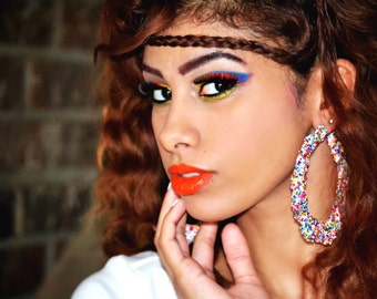 Candy Sprinkle Collection Bamboo Hoops Multi Color  Buy 2 Get 2 Free Limited Time Only