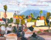 San Diego Landscape Painting- North Park Clouds