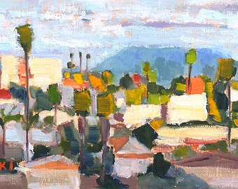 San Diego Landscape Painting- North Park Clouds