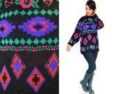 SALE | 80's Neon Southwestern Sweater