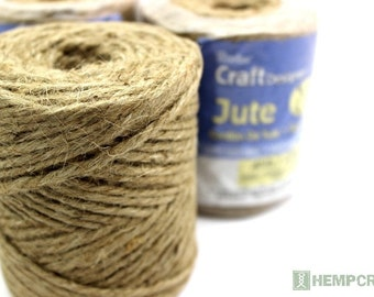 Jute Twine, 28lb 3 Ply Natural Jute Cord, Natural Packing Twine
