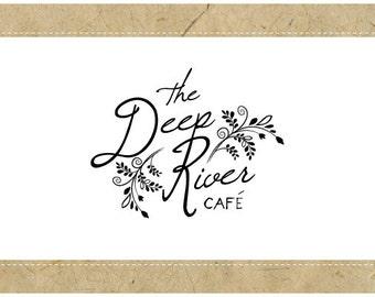 Custom Logo Design - PreDesigned Logo - PreMade Logo - Vector Logo - OOAK Logo -  DEEP RIVER Logo Design - Handwriting Logo - Script Logo